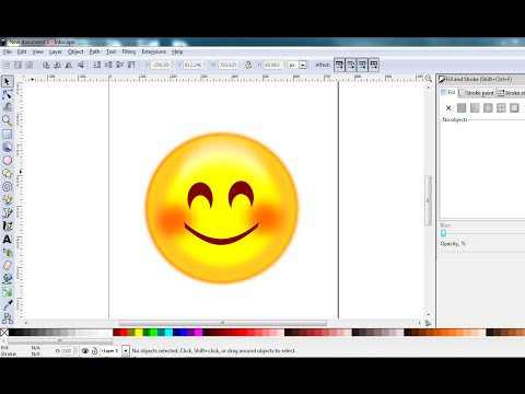 Inkscape Tutorial - How To Draw Simple Whatsapp Emoji Using Inkscape