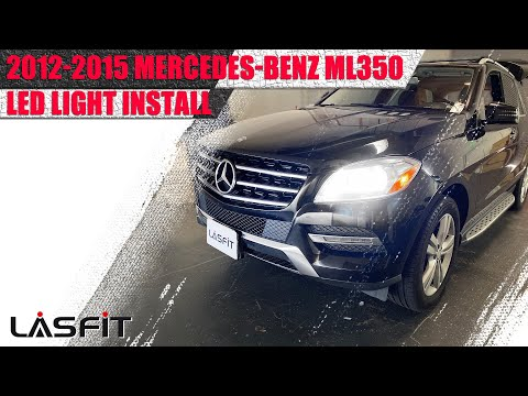 How to install H7 LED Headlight Bulbs on Mercedes Benz ML350 2012 2013 2014 2015