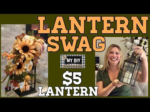 Fall Lantern Swag | Dollar Tree DIY |  $5 Lantern! EASY!!