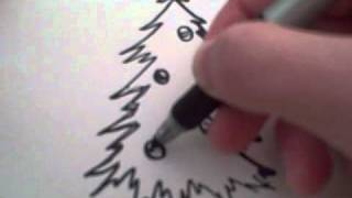 How to Draw a Cartoon Christmas Tree