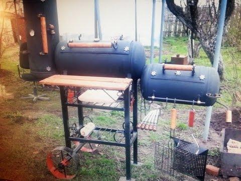 Коптильня мангал и барбекю в одном паровозике из баллонов таможенный код дровяная печи барбекю