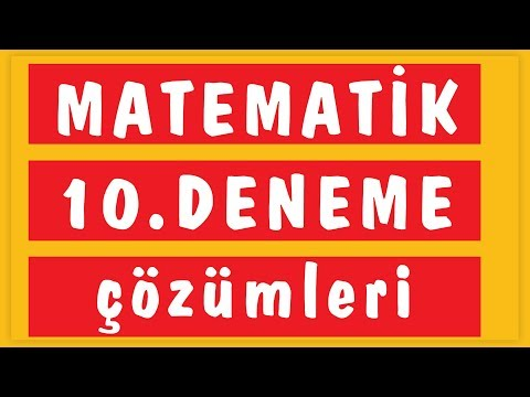 Tyt 10'lu Deneme - 10 çözüm (emrah Hoca) Şenol Hoca Matematik