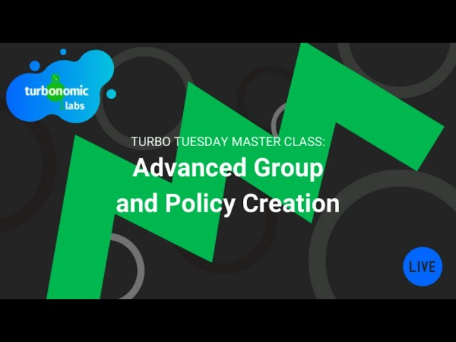 Turbo Tuesday Office Hours: Turbonomic Advanced Group and Policy Creation