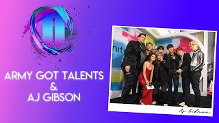 ARMY GOT TALENTS - AJ GIBSON talk About his book and cheer BTSArmy for upcoming AGT competition