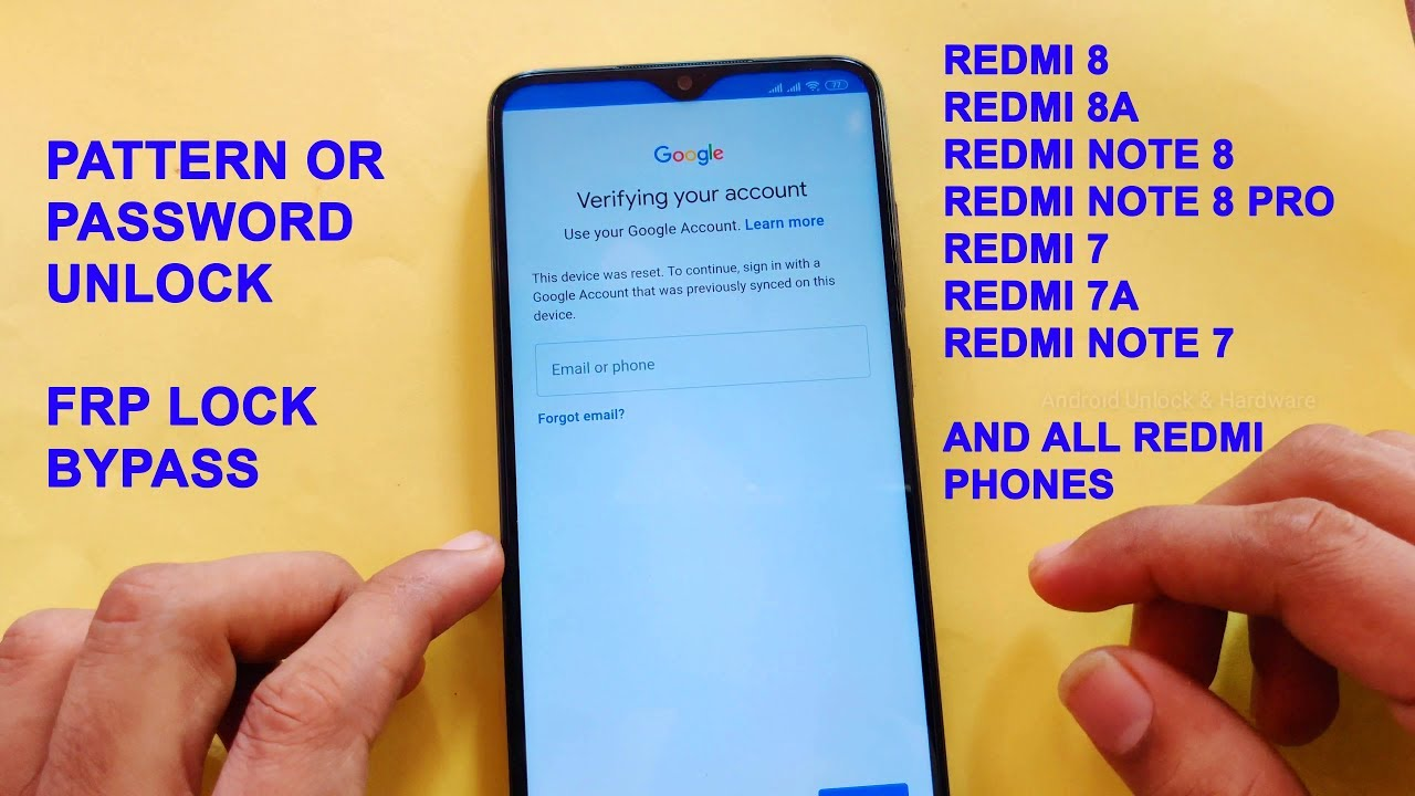 Redmi Note 8 Frp Umt