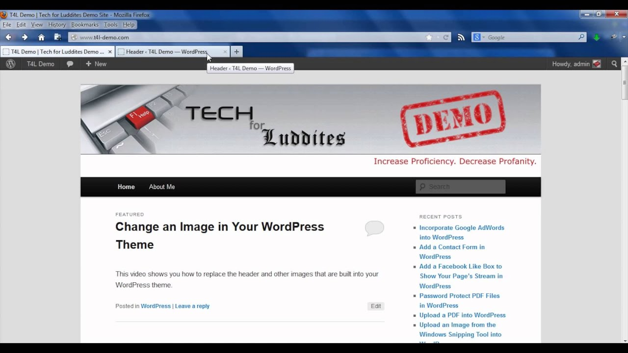 How to change an image in a wordpress theme wordpress for How to edit wordpress templates
