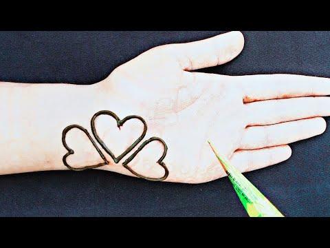 Outstanding heart henna designs    Super Gorgeous mehndi designs    Beautiful mehndi designs thumbnail