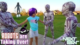 ROBOTS are TAKING OVER NINJA KIDZ TV!! NEXT GEN New Movie! thumbnail