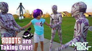 Download ROBOTS are TAKING OVER NINJA KIDZ TV!! NEXT GEN New Movie!