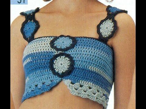 Patr n para tejer top a crochet youtube - Cosas para hacer de ganchillo ...