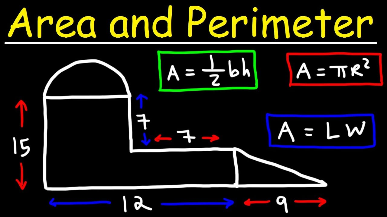 medium resolution of Area and Perimeter of Irregular Shapes - Tons of Examples! - YouTube