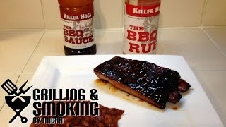 smoked ribs killer hogs style on the weber kettle