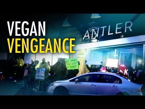 """Antler Kitchen & Bar"" gives vegan protesters taste of their own medicine"