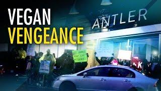 """""""Antler Kitchen & Bar"""" gives vegan protesters taste of their own medicine"""