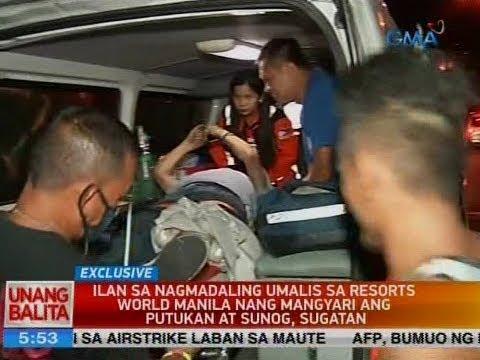 UB: Ilan sa nagmadaling umalis sa Resorts World Manila nang mangyari ang putukan at sunog, sugatan