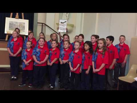 Wiradjuri choir sings at Forbes Medal 2017