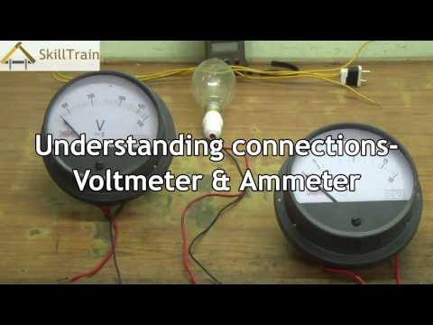 Understanding the connection of a Voltmeter and Ammeter on a Circuit (English)