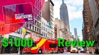 Review Sightseeing pass New York 10 days, $1000 dollar worth of attractions