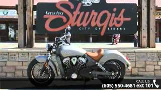 2016 Indian Scout Silver Smoke  - Indian Motorcycle Sturg...