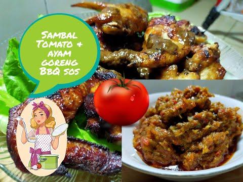 resepi-sambal-tomato-dan-ayam-goreng-bbq-sos