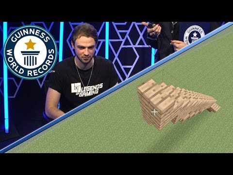 Ali-A's Minecraft Challenge: tallest staircase - Guinness World Records