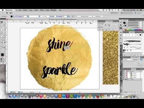 How to Make Gold Foil or Glitter Type - YouTube