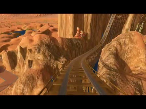 Roller Coaster Tycoon World Canyon Coaster ride