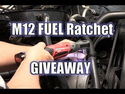 Milwaukee M12 FUEL Ratchet Giveaway | WATBL October 2017