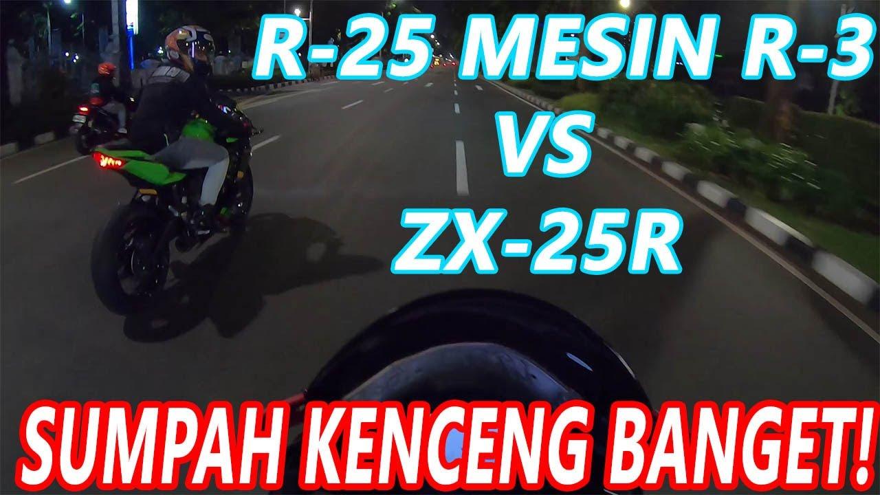 LANGSUNG LAWAN ZX-25R HARALD! Yamaha R3 vs ZX25R