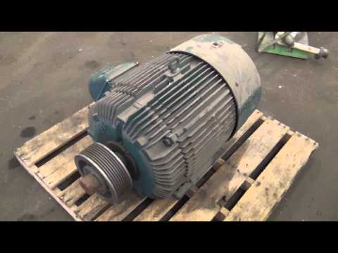 Used- Reliance Electric 50 Hp Duty Master A-C Motor - stock # 43971002