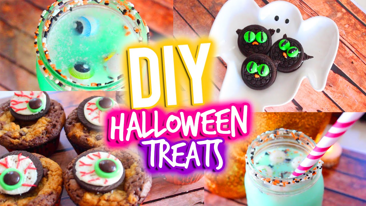 easy diy halloween treats youtube - Halloween Trets