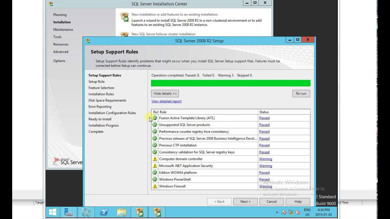 How to Install SQL 2008 r2 on Windows 2012 R2
