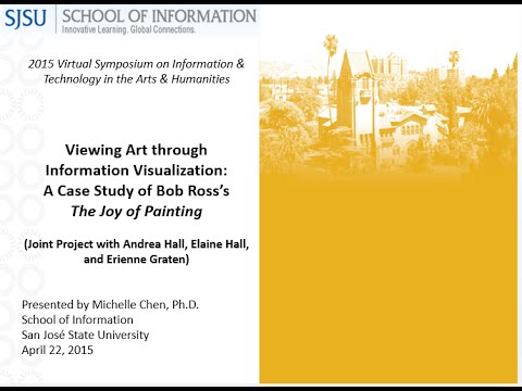 Viewing art through information visualization: A case study of Bob Ross's The Joy of Painting