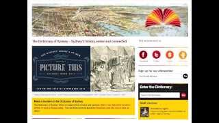 History Week 2013: Lisa Murray on the Dictionary of Sydney