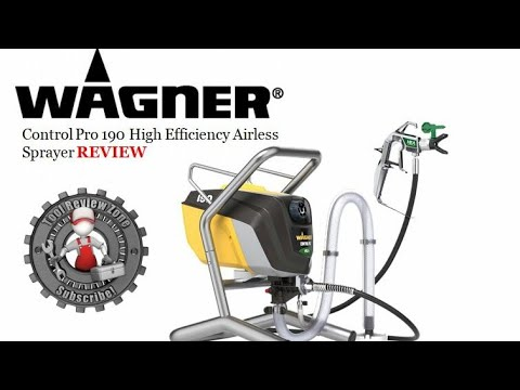 Wagner Control Pro 190 High Efficiency Airless Sprayer Review And Tutorial (0580002)