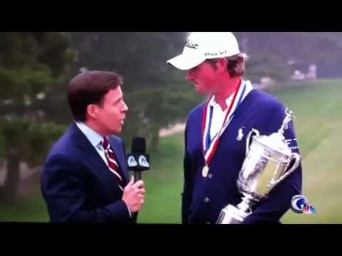 Webb Simpson Interview- Crazy Fan Interrupts