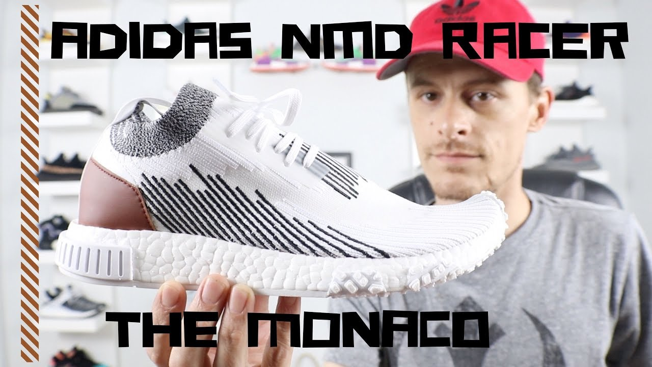 check out a4cf6 0438e ADIDAS NMD RACER-The MONACO Review (Whitaker Car Club Collab)