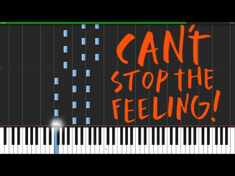 Can't Stop The Feeling - Justin Timberlake [Piano Tutorial] (Synthesia) // Elaine Yu