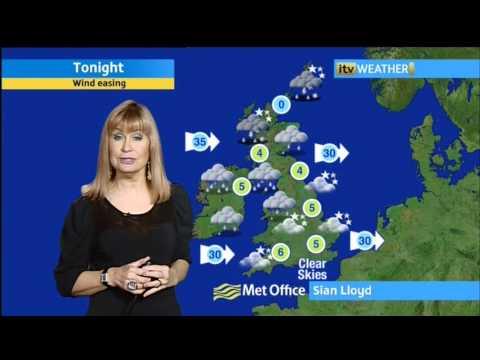 Sian Lloyd   21 1 12   Evening   Weather