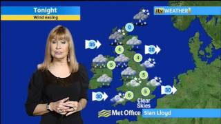 Sian Lloyd   21 1 12   Evening   Weather