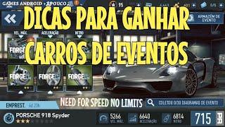 Dicas para Ganhar Carros em Eventos : Need For Speed No Limits