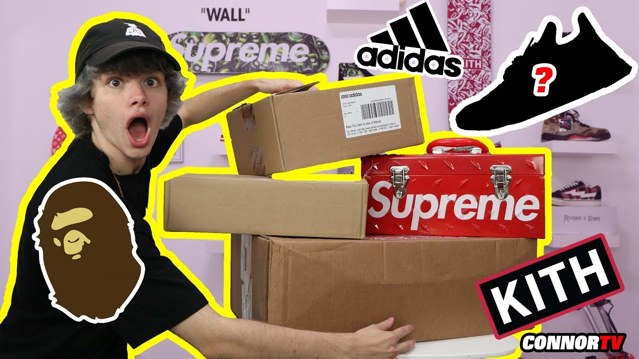 4a004ea26 $2,500 Back To School Hypebeast HAUL Supreme, BAPE, Pharrell NMD, PICKUPS