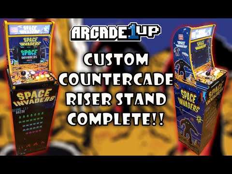 Arcade1up CounterCade Riser Stand Complete!!! from MadDadsGaming