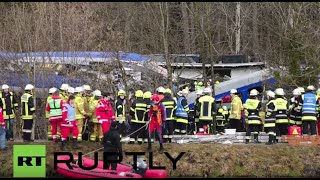 LIVE from Bad Aibling as rescue operation is ongoing at train crash site