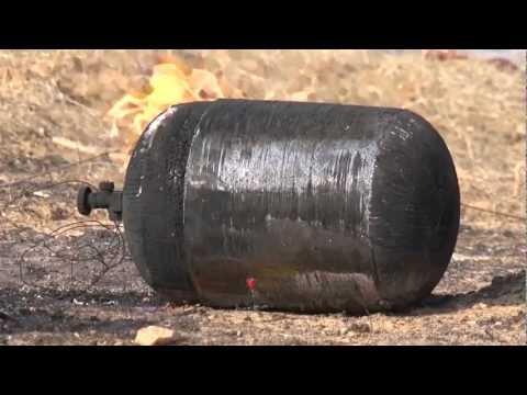 Взрыв газовых баллонов. Безопасные газовые баллоны.