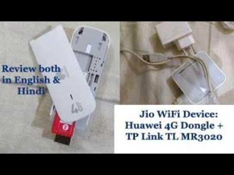 Jio Using TP-Link TL-MR3020 Router, Huawei E3372 4G LTE Dongle