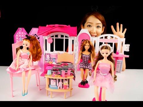 [쿠키토이]티나의♥미미공주와 바비의 핑크 피크닉 하우스♥장난감