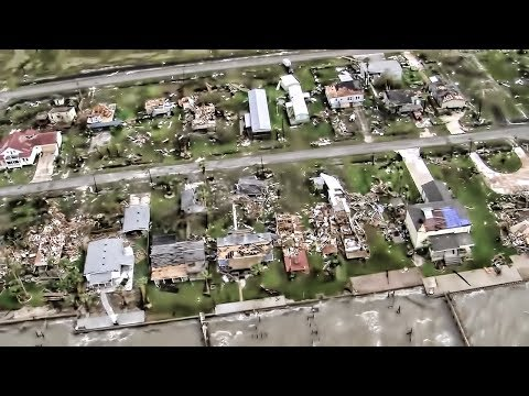 Hurricane Harvey Ground Zero • Rockport, TX Flyover