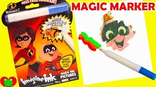 Disney The Incredibles 2 Coloring Magic Marker and Surprises