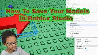 Come salvare i tuoi modelli in Roblox Studio (2019)
